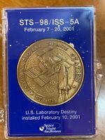 NASA Mission STS-98, ISS - 5A U.S. Lab Destiny Commemorative Coin, Original Box