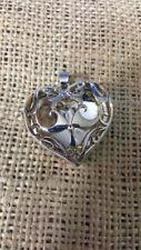 "925 Hallmarked ""BEST"" filigree heart locket"