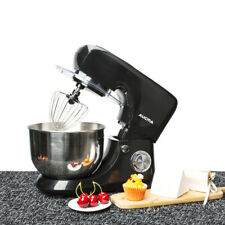 Aucma Electric Food Stand Mixer with 5.5L Mixing Bowl Splash Guard 6 Speed Black