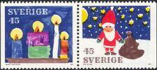 Sweden 1972 Christmas/Santa/Candles/Greetings/Flame/Animation 2v bklt pr n44918