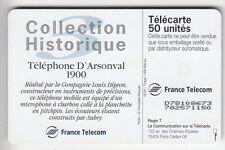 VARIETE TELECARTE FRANCE .. 50U F716C OB3 TEL.3  DN N° GRAS NOIR D78108673 C110€