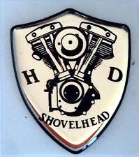 Harley Davidson®  Shovelhead 3D Doming Decal 2 Stück Aufkleber