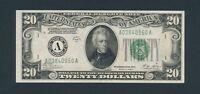 1928B $20 Federal Reserve Note Woods / Mellon Boston Bank Original AU