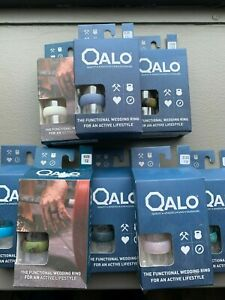 Qalo Silicone Men's Ring Wedding Band Many Sizes and Colors