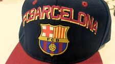 e0c77b23c21 FCB BARCELONA Barça Cap Hat adjustable  7 embroidered Logo Patch Official  new