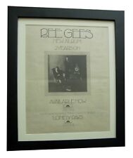 BEE GEES+2 YEARS ON+LONELY+RARE ORIGINAL 1970 POSTER+AD+FRAMED+FAST GLOBAL SHIP