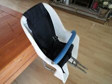 White Plastic Childs seat. OK Condition & is all there. Straps & Safe t bar