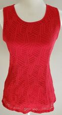 Banana Republic Red Lace Top Size 6
