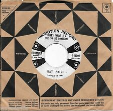RAY PRICE * 45 * That's What It's Like To Be Lonesome * DJ PROMO * 1959 #7 Vinyl