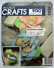 McCall's CRAFT Sewing Patterns #9130 ENCHANTED FOREST BABY DOLLS - UNCUT