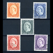ST VINCENT 1964-65 Wmk w12. 5 Values. SG 212-216. Fine Used. (AR492)