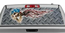 Truck Rear Window Decal Graphic [Tattoos & Themes / USA Skulls] 20x65in DC35009