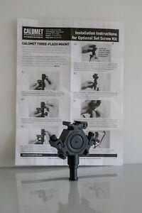CALUMET MANFROTTO 3 FLASH HEAD MOUNT BRACKET