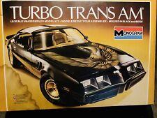 Monogram Pontiac Turbo Trans AM model kit 1/8 scale complete 1980