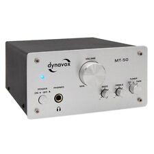 Dynavox MT-50 HiFi Verstärker Silber, Stereo Mini Vollverstärker, High End Amp