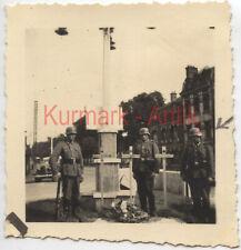 Q615 Foto Wehrmacht Belgien Frankreich kia Soldat 27.5.1940 Grab Kreuz aber wo ?