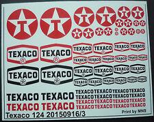 Texaco Decals in 1/24 und 1/32 Wasserschiebebilder