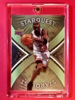 Michael Jordan RARE UPPER DECK STARQUEST SPECIAL FOIL FINISH INSERT #SQ-20 Mint!