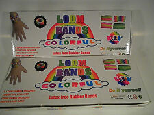2x LOOM KITs w/ HOOKS,  C-CLIPS & MIX COLORED RUBBER BANDS RAINBOW