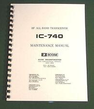 "Icom IC-740 Service Manual: Includes 12"" X 36"" Foldout Schematics!"
