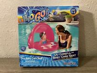 H20 Go! UV PROTECTIVE  Baby Care Seat 50+ UPF Pink Covered Pool Float, Ages 1-2