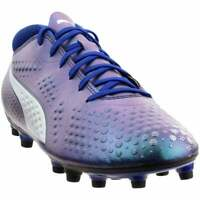 Puma One 4 Synthetic Firm Ground  Casual Soccer  Cleats - Blue - Mens