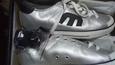 Etnies men's size us 10.5, leather silver retro space shoes men's   new in box