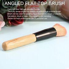 Flat Top Liquid Foundation/BB Cream/Blush Makeup Brush Wood Handle WT