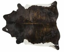 Brindle White Belly Brazilian Cowhide Rug Cow Hide Area Rugs Leather Size Large