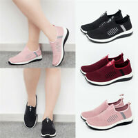 Women's Athletic Breathable Sneakers Flat Slip On Sports Casual Low Top Shoes