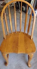 """Solid Oak Curved Back Chair 36"""" High X 19"""" Wide Are You Looking For One?"""