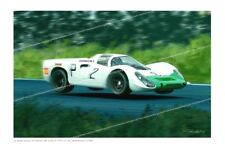 Porsche 908 Nurburgring 1968 Jo Siffert  Vic Elord Victory  Art Print Signed