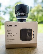 Tamron 35mm f/1.8 SP Di VC USD Lens for Nikon - USED
