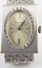 Swiss Baume & Mercier 14ct white gold lady's diamond bezel bracelet wrist watch.