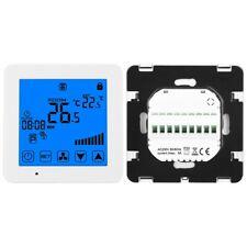 Digitaler Thermostat Zentrale Klimaanlagen Raumthermostat LCD Display Weiß