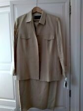Dana Buchman Yellow Linen Sleeveless Dress  & Jacket NWT size 12