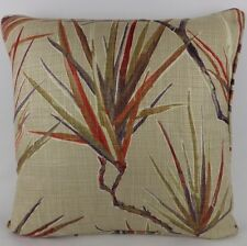 "Harlequin Calliope Fabric Cushion Cover Red Purple Large 20"" Linen Palm Leaf"