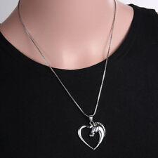 Nueva Colla Colgante Corazón Chapado En Oro Blanco Plata  Regalo