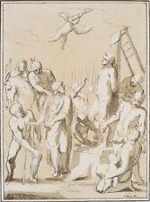 N.STRIXNER (1782 Altötting), DOMENICHINO (1581), Martyrium eines Heiligen, Lith.