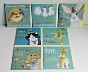 Selection of 7 Beautiful Emma Ball Greetings Cards Envelopes New & Sealed
