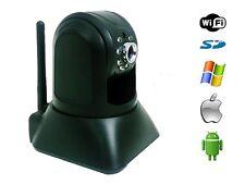 1 Megapixel H.264 HD RJ45 b/g/n Wi-Fi Tilt Pan IP Intercom DVR Camera TF Slot