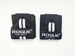 "Rogue Fitness Wrist Wraps Medium Black/White  Weightlifting Crossfit 18"" Pair"