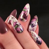 Nail Art Water Decal Flower Transfer Full Sticker Decoration A068/A069