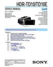SONY HDR-TD10/TD10E SERVICE & REPAIR MANUAL