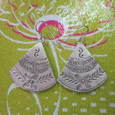 Hill Tribe Fine Sterling Silver Earrings Orecchini Tribal Clothing Ethnic Dangle