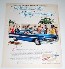 Vintage Car Ad — 1957 — Pontiac Super Chief