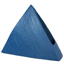 "Japanese Ikebana Vase 9""H Pyramid Form Blue Ceramic Flower Arranging/Made Japan"