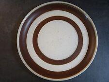 """Vintage Denby Russet Design 12"""" Round Plate Platter Brown Rings"""