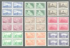 1930s United States Eaton'S Fine Letter Papers Poster Set Of 10 Mnh Blocks Of 4