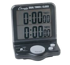 New Champion Electronic Track & Field Dual Timer Alarm Clock Running Race Sport